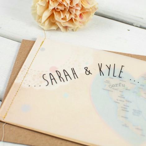 Vintage Map Wedding Invite