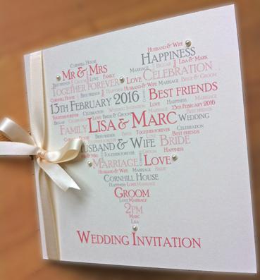 Words & Wishes Wedding Invite