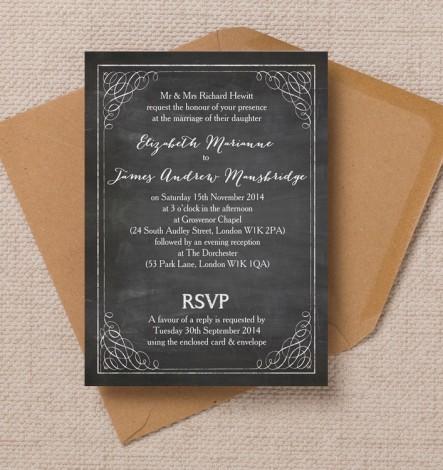 Chalkboard Wedding Invite
