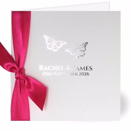 Flutter Silver Wedding Invitation